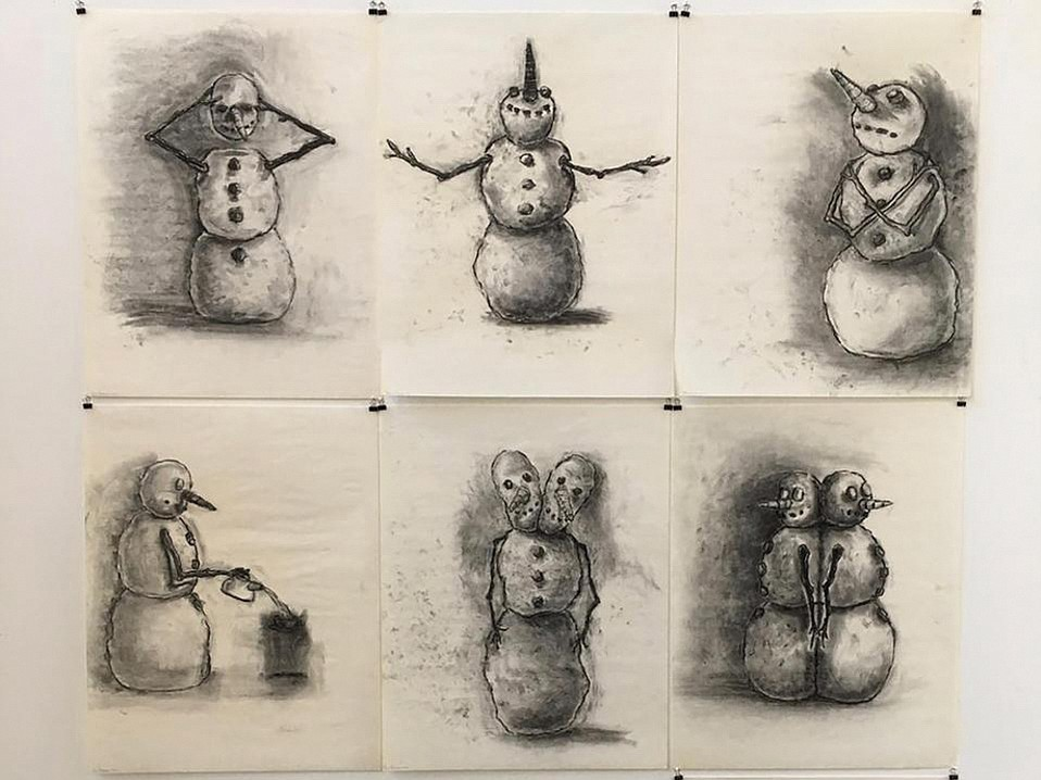 """Snowman drawings"" (2002) from Consorts"