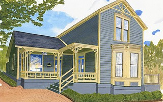 Original painting of Jodi House by local artist and Jodi House supporter Chip Nichols