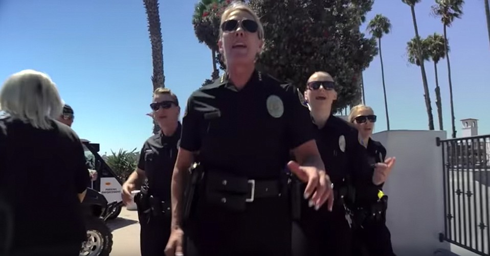 Still from the Santa Barbara Police Department's Lip Sync Challenge Video