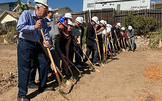 Officials used their ceremonial shovels to start up the construction of Johnson Court on October 8. When completed, the development on East Carrillo Street will provide 16 affordable studios for homeless veterans.
