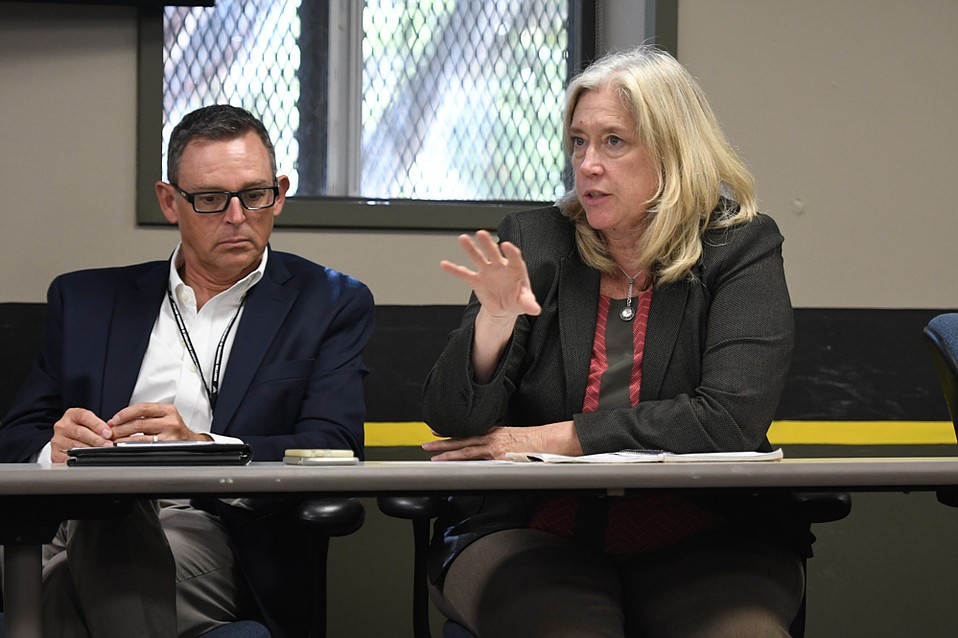 John Winkler and Dr. Alice Gleghorn met Monday with other county mental-health experts to talk about increasing the number of beds for psychiatric acute care.