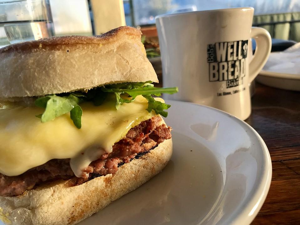 Breakfast Sandwich ($6.75) from Bob's Well Bread Bakery