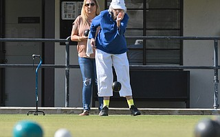 Longtime lawn bowlers have protested their potential displacement if the city opts to locate a new police department at its downtown location.