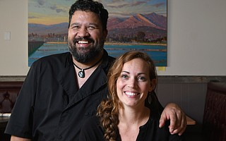 Live Oak's proud owners, Mark Dela Cruz and Molly Holveck