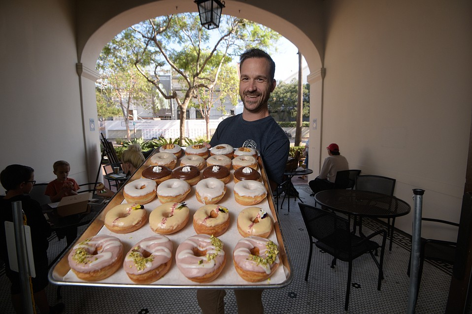 John Burnett decided to do something about Santa Barbara's lack of gourmet doughnuts by opening Hook & Press on State Street.