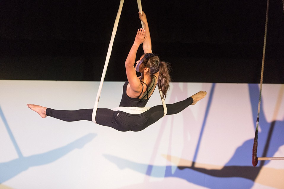The aerial dance performance Jane Air was teacher Charles Donelan's means of getting his students excited about the classic book Jane Eyre.