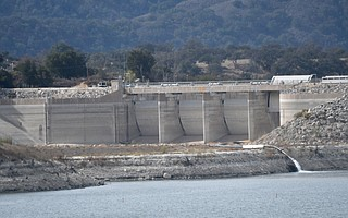 With regional drought in its eighth year, the water level at Lake Cachuma, a reservoir created by Bradbury Dam (pictured), is at 31 percent of capacity.