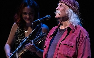 David Crosby took the Lobero stage with a great group of younger players known as the Lighthouse Band