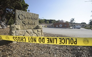 A shooting at Cleveland Elementary School left one man injured.