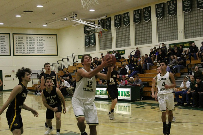 WIll Rottman attacks the basket. He finished with nine points.