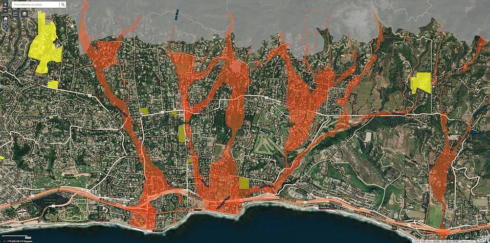 Storm risk in Montecito area