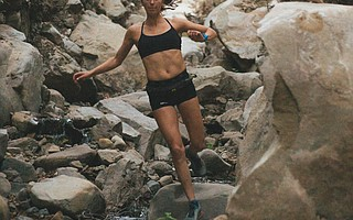 Dani Moreno's skill in negotiating steep descents is a hallmark of her trail-running success.