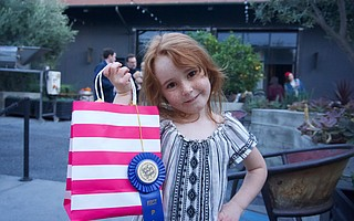 Preschooler Madelyn Dennis, first place winner in the youth category