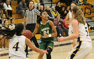 Caia Trimble finished with eleven points and four steals.
