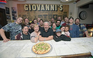 Generations of family and close friends surprised Giovanni's Coast Village Road owner  Albert Noormand (center) on Wednesday night to celebrate 32 years of business. The restaurant will close in January 2019 when their lease is up and not being renewed.