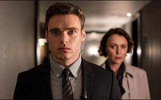 <em>Bodyguard's</em> riveting opening 20 minutes sets the pace and standard for the six-part series, which has earned two Golden Globe nominations, for Best Actor and Best TV Drama. Pictured from left are star Richard Madden and Keeley Hawes.
