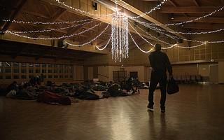 Warming Center setup at the Santa Barbara First Presbyterian Church (Nov. 28, 2018)