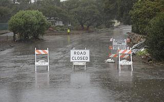 Road closures in Montecito