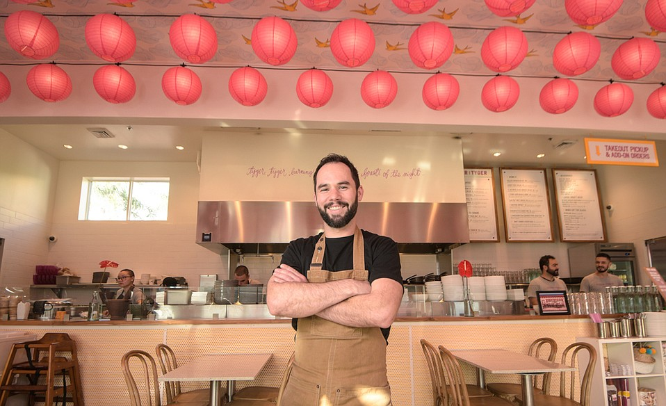 Chef Daniel Palaima is drawing on his experience at restaurants in Chicago and elsewhere to serve up casual but quality Asian-inspired eats at Tyger Tyger, including dishes such as Northern Thai curried pork noodles, chicken wings with caramelized fish sauce, and much more.