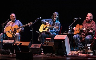 American Crossroads Trio from left: David Bromberg, Larry Campbell, and David Hidalgo