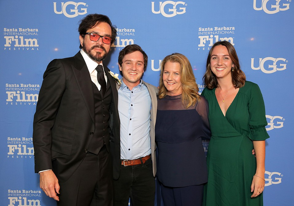 SBIFF Director Roger Durling, Max deGruy, Mimi deGruy and Frances deGruy attend the opening night film, 'Diving Deep: The Life And Times Of Mike deGruy'.