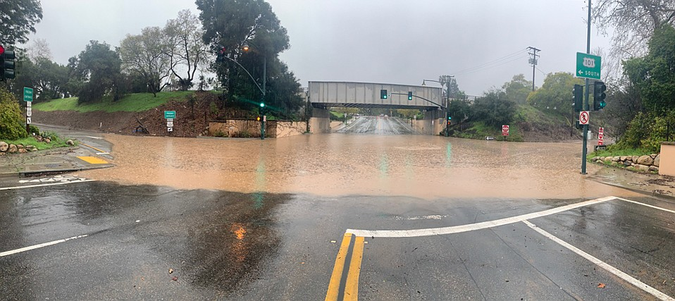 Saturday's storm caused flooding throughout the streets of Santa Barbara County.