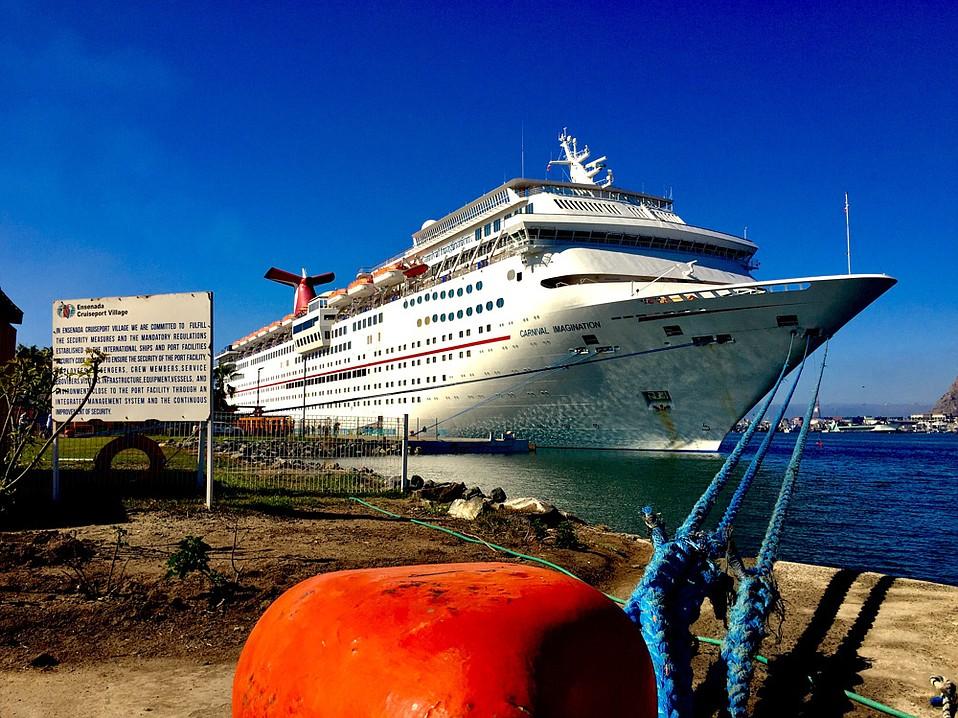 The 855-foot Carnival ship, <em>Imagination</em>, is ready for departure!