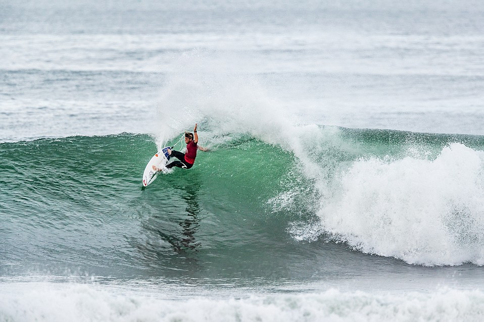 Conner Coffin scored a semifinal finish at the 2018 Quiksilver Pro France.