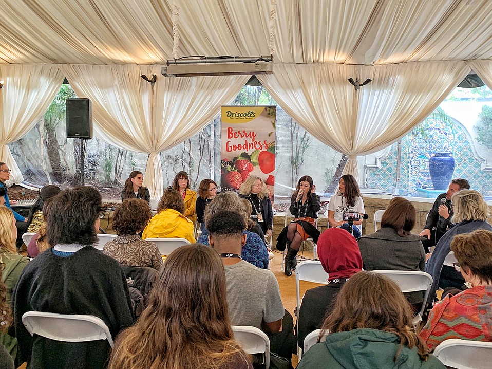 Conversations with filmmakers (from left) Paz Leon, Lis Bartlett, Eva Spreitzhofer, Patricia Rozema, 