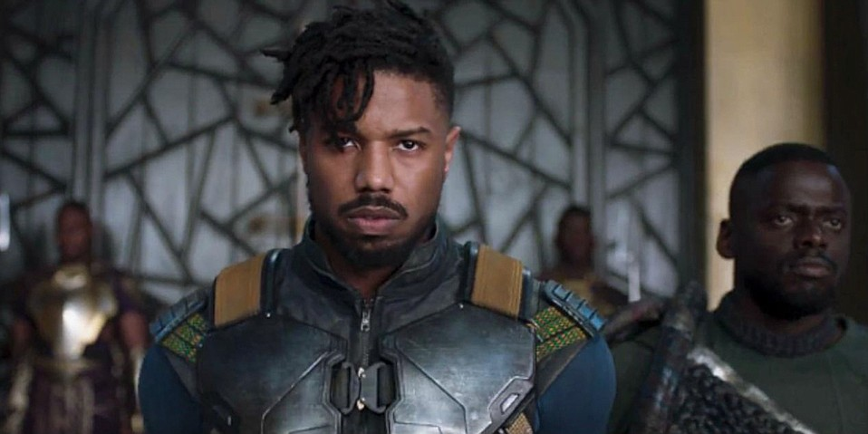 Michael B. Jordan in <em>Black Panther</em>