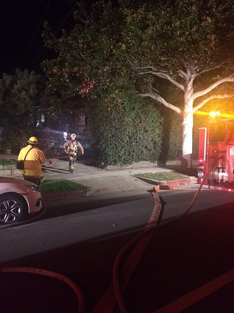 A fire at a residence on the 900 block of Bath Street flared up early this morning.