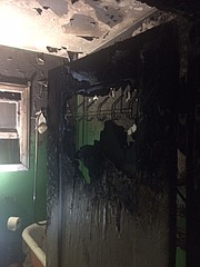 Lower Bath Street fire, interior