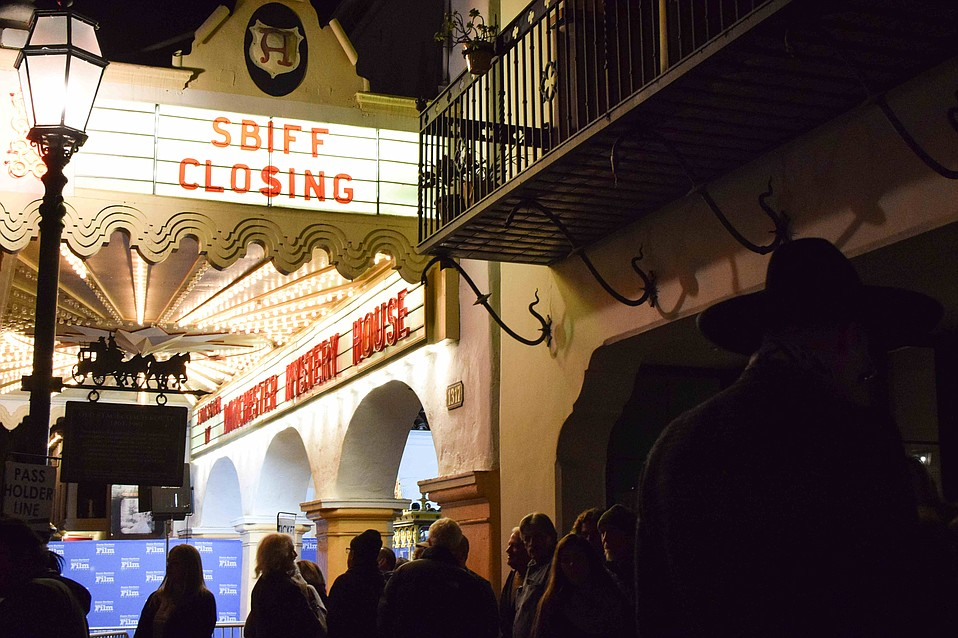 Big crowds turn out for the closing night film, Spoons, at the 34th Santa Barbara International Film Festival