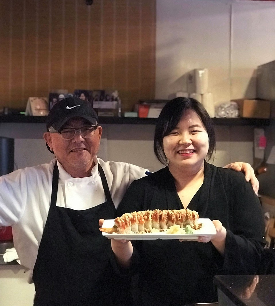 Sushiya owner James Lee and his daughter Leanne Lee work together to make such Korean classics as bibimbap.