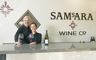 After buying Samsara from Chad Melville in 2017, the new owners David and Joan Szkutak opened Goleta's first-ever wine tasting room on Calle Real near Los Carneros in 2018.