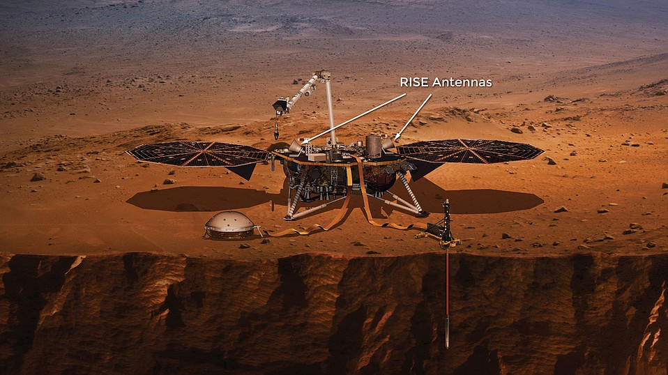 The instruments aboard the Mars InSight lander, the first mission dedicated to investigating the deep interior of Mars, are powered by the circular solar arrays developed by Goleta's Orbital ATK, now owned by Northrop Grumman.