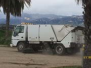 The sweeper at Goleta beach parking lot