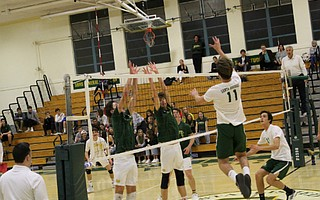 Riley Roach goes up for the spike