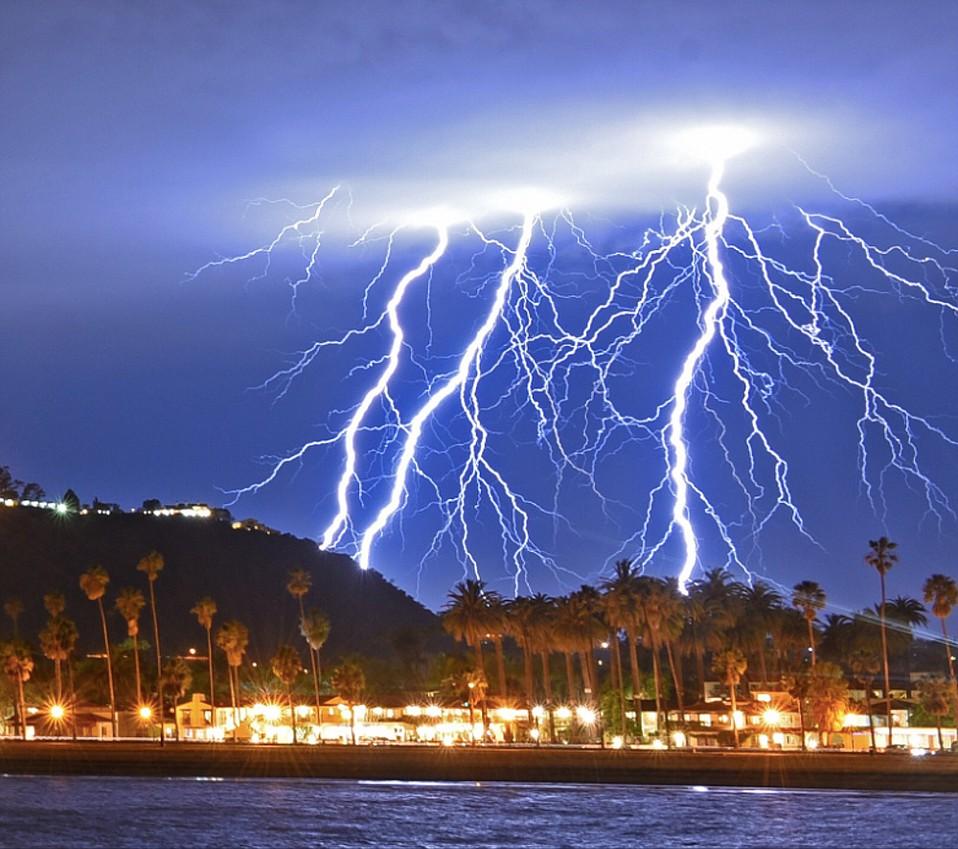 Tuesday night thunderstorm