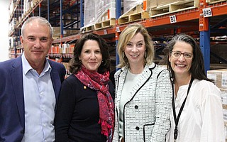 Left to right: Thomas Tighe, CEO DIrect Relief; Beth Green, Direct Relief Women Co-Chair and DR Board Member; Dr. Jessica Grossman; Paulina Ospina, DR Maternal and Child Healthcare Program Manager
