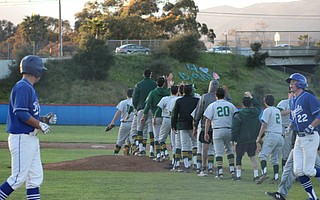 Santa Barbara Celebrates its victory over rival San Marcos.