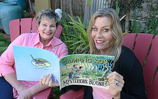 This new children's book from S.B-based author and former Olympic athlete Avalon Jenkins (left) and her illustrator wife, Genevieve Mahoney, is based on Jenkins's experiences raising her family in a motor home on a homeless encampment.