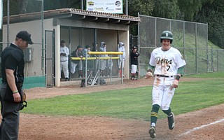Frankie Gamberdella trots to home plate.